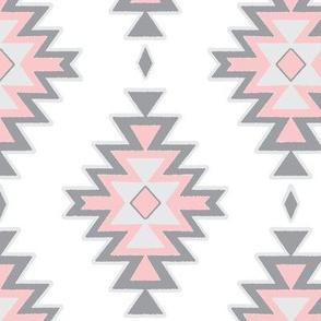 Kilim - pink/grey