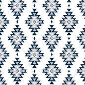 Kilim- navy/grey -