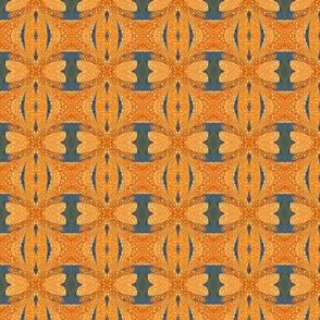 Abstract Geo Orange & Blue - 2