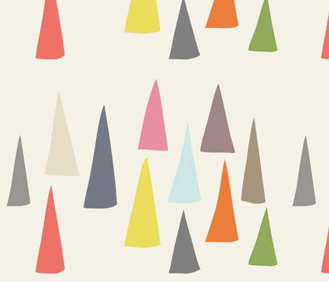 Happy Cones Beige fabric by kaoru_sanchez on Spoonflower - custom fabric