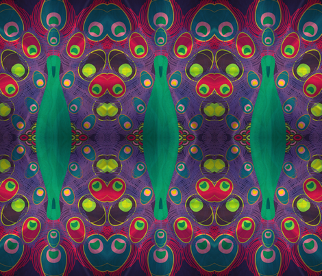 art deco peacock fabric by citivacreationz on Spoonflower - custom fabric