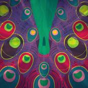 art deco peacock