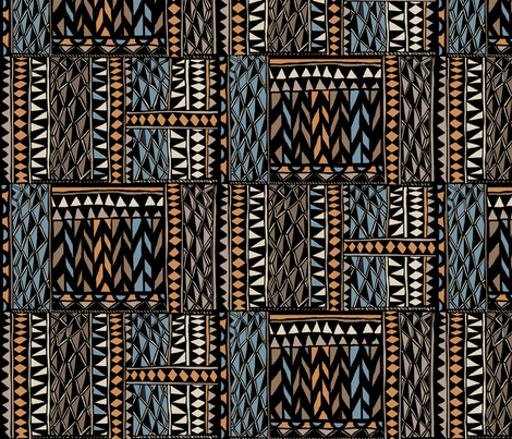 african ethnic tribal fabric by maliuana on Spoonflower - custom fabric