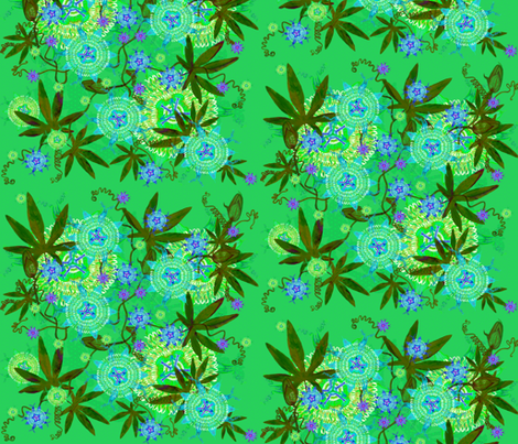 PASSIFLORA CRAZY JUNGLE fabric by joancaronil on Spoonflower - custom fabric