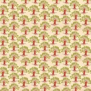 oak trees red trunk
