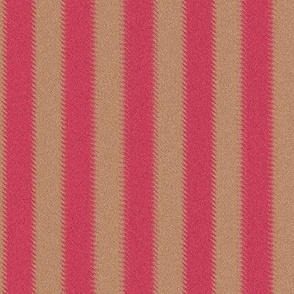 Ripple Stripe Pinkish Red and Tan