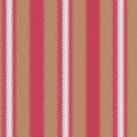 Ripple Stripe Tan Pinkish Red and White fabric by eclectic_house on Spoonflower - custom fabric
