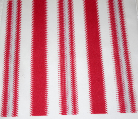 Ripple Stripe Pinkish Red and White