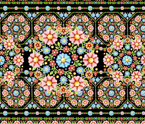 Millefiori Flower Crown fabric by patriciasheadesigns on Spoonflower - custom fabric