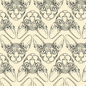 Sphynx lines fabric Ivory