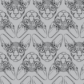 Sphynx lines fabric Grey