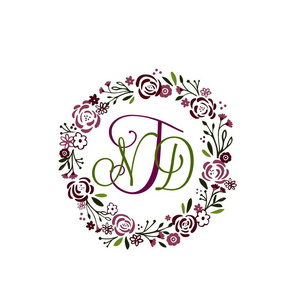 purple passion 12 personalized  shabby chic rose wreath