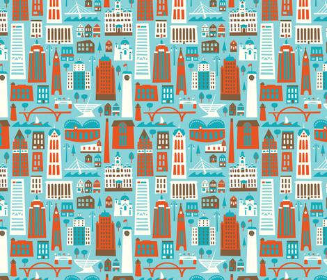 My Fair Milwaukee Blues fabric by allisonbeilkedesigns on Spoonflower - custom fabric