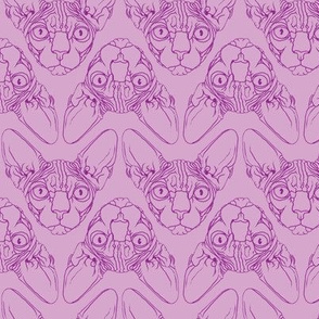 Sphynx lines fabric lavender & purple