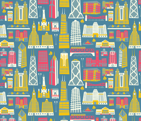 My Kind of Chicago fabric by allisonbeilkedesigns on Spoonflower - custom fabric
