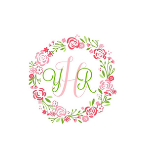 Petal personalized  12  shabby chic rose wreath