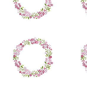 berry 1214 shabby chic rose wreath