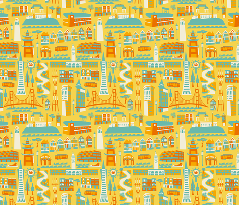 GOINGTOSANFRAN_4color fabric by allisonbeilkedesigns on Spoonflower - custom fabric