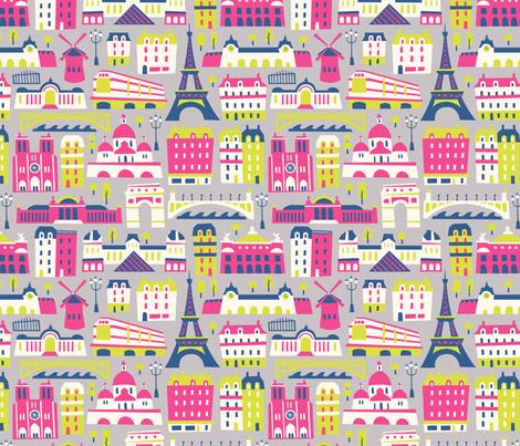 Paris_4color fabric by allisonbeilkedesigns on Spoonflower - custom fabric
