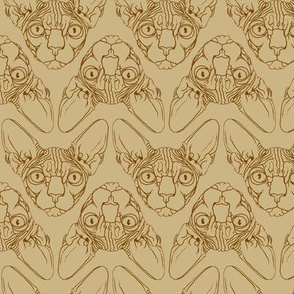 Sphynx lines fabric khaki & brown