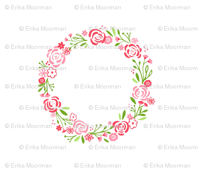Petal shabby chic rose wreath