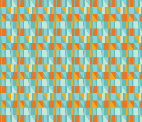 City Block - Aqua fabric by allisonbeilkedesigns on Spoonflower - custom fabric