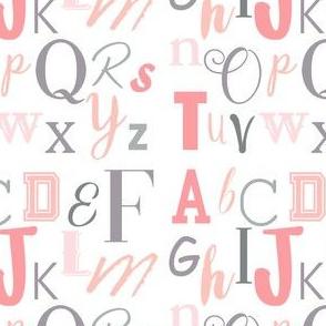 Pink Grey Alphabet