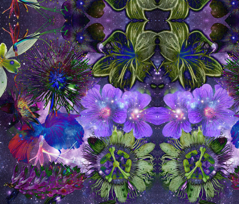 cosmic garden fabric by citivacreationz on Spoonflower - custom fabric