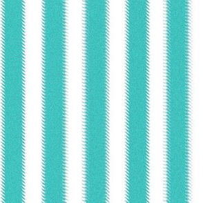 Turquoise and White Ripple Stripes