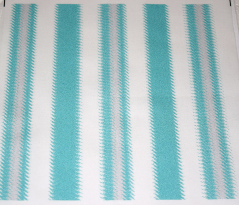 Turquoise and White Ripple Stripes 2