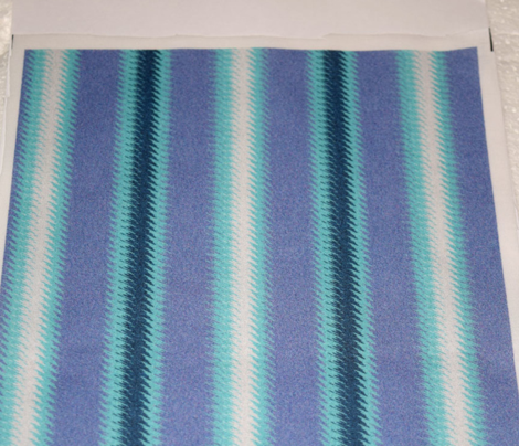 Turquoise Lavender Teal and White Stripe