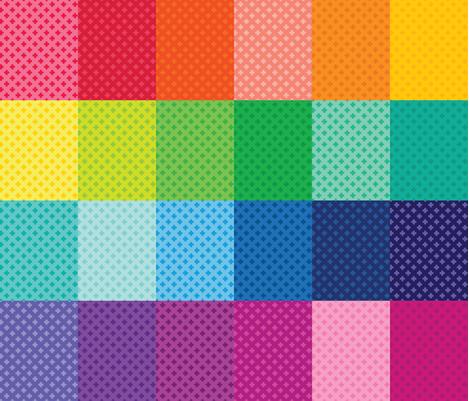 Tiny Crosses 24 Sampler fabric by surlysheep on Spoonflower - custom fabric