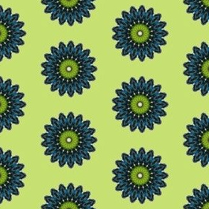 Green and Blue Daisy