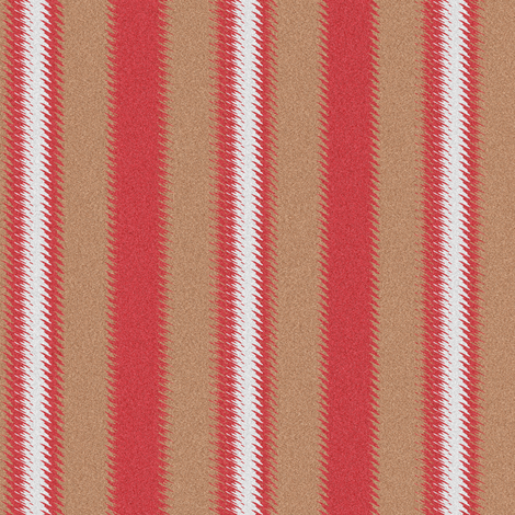 Ripple Stripe Tan Red and White fabric by eclectic_house on Spoonflower - custom fabric