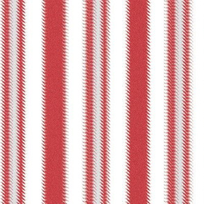 Ripple Stripe Red and White