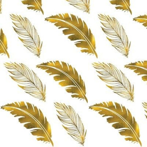 Metallic Gold Feathers