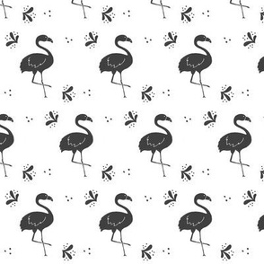 Black and White Flamingo