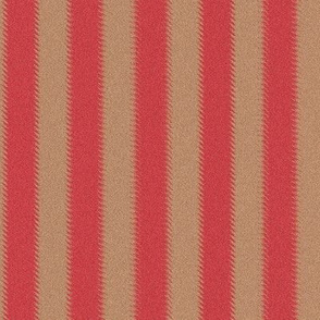 Ripple Stripe Red and Tan