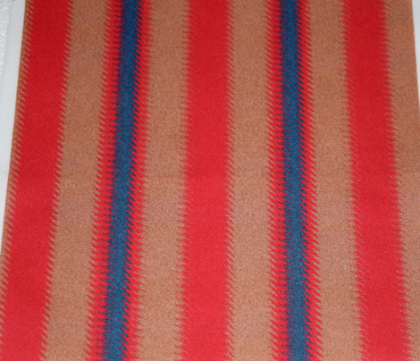 Ripple Stripe Tan Red and Blue