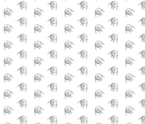 FUZZIES! Gray fabric by sunnytime on Spoonflower - custom fabric