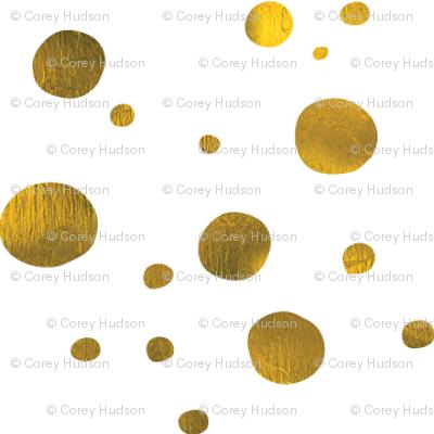 Metallic Gold Polka Dot