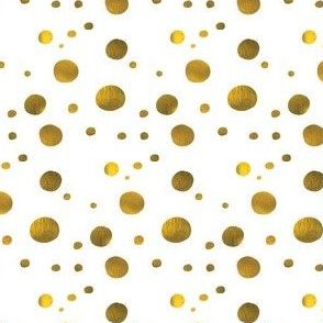 Metallic Gold Polka Dot