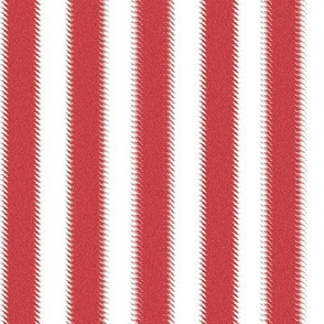 Red and White Ripple Stripes