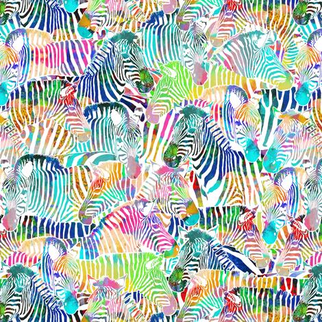 Zebra Rainbow (Small Scale) fabric by rubydoor on Spoonflower - custom fabric