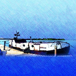 Copper Harbor fishing boat