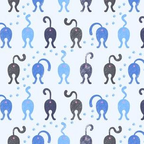 Cat Butts - Blue