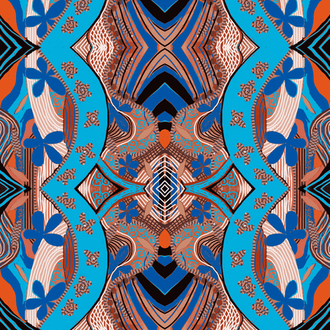 African Blue Double Take fabric by lbehrendtdesigns on Spoonflower - custom fabric