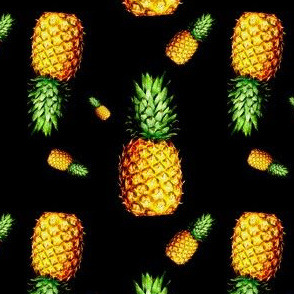 Pineapple in Black - Large Print