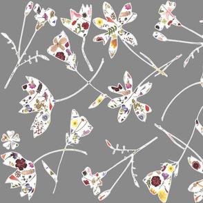 Flowers in flowers grey