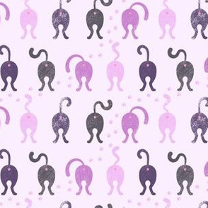Cat Butts - Purple Gray